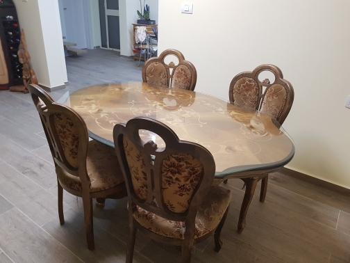 פינת-אוכל-מהממת-כולל-משטח-זכוכית-ו4-כיסאות - יד 2