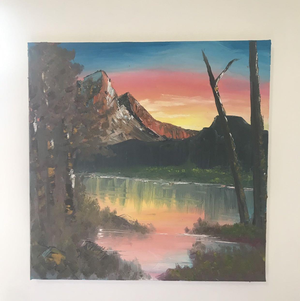 ציור-שמן-מעשה-יד-לתלייה-בבית - יד 2