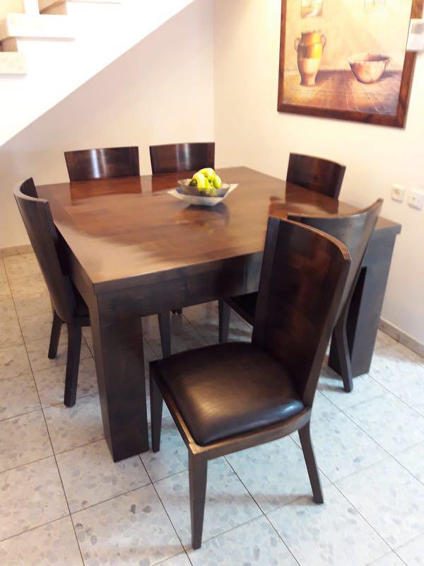 שולחן-עץ-מלא-יוקרתי-ואיכותי- - יד 2
