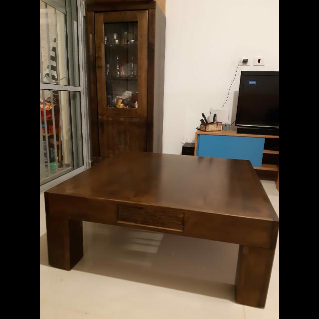 סט-של-שולחן-וויטרינה-מעץ-מייפל-איכותי - יד 2