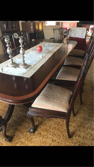 שולחן-אנגלי-מעץ-מלא-מפואר-ומהודר - יד 2