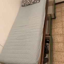 מיטת-עץ+מזרן-אורטופדי