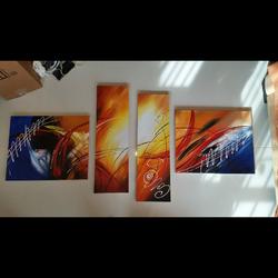 סט-של-4-תמונות-איכותיות--ציור-מופשט - יד 2