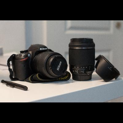 d3200-מצלמה-במצב-מעולה-עם-18-55-ו18-200 - יד 2