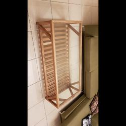 """שולחן-עץ-מלא,-זכוכית-8-מ""""מ-מחוסמת,-תחתיות-סיליקון - יד 2"""