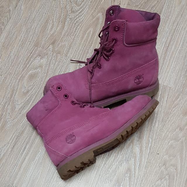 נעליי-Timberland-(מקוריות)-בצבע-ורוד.