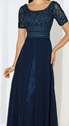 שמלת-ערב-מדהימה!-צבע-כחול-כהה.-מידה-40.-