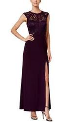 שמלת-מקסי-בצבע-סגול-חציל.-מידה-40.-